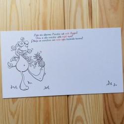 Malpostkarten - 7er-Set - Albert mit Ananas