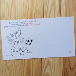 Malpostkarten - 7er-Set - Felix mit Fußball