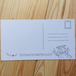 Malpostkarten - 7er-Set - Einzelkarte Rückseite