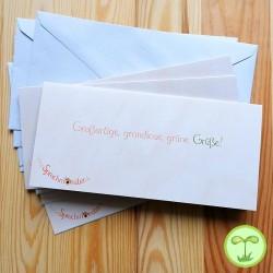 Sprachmonster Einladungskarte Grußkarte Geburtstag 5er-Set Rückseite