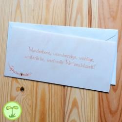 Sprachmonster Grußkarte Einladungskarte Weihnachten Rueckseite