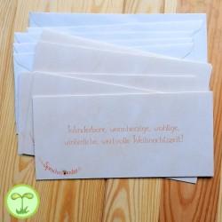 Sprachmonster Einladungskarte Grußkarte Weihachten 5er-Set Rueckseite