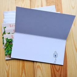 Sprachmonster Einladungskarte Grußkarte Weihnachten 5er-Set Innenseite