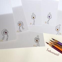 Sprachmonster Grußkarte Einladungskarte Geburtstag Zeichnungen innen