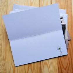 Sprachmonster Einladungskarte Grußkarte Schulanfang 5er-Set Innenseite