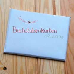 Sprachmonster Buchstabenkarten Komplettset Umschlag Front Recyclingpapier