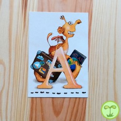 Sprachmonster Buchstabenkarte A