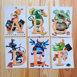 Sprachmonster Buchstabenkarten ABC DEF