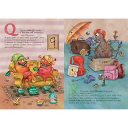 Sprachmonster Kinderbuch Das Monster ABC Innenseite Q und R